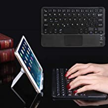 Black Shentesel Ultra-Slim Bluetooth 81 Keys Keyboard with Touchpad for Android Windows Tablet