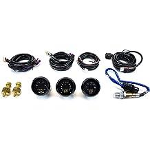 AEM 2 Gauge Display Set 30-4406 UEGO WideBand A//F Ratio Gauge + Boost Pressure Gauge 30-4110