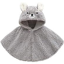 DOESLOOK Baby Boys Girls Cartoon Cloak Kids Clothes Cotton Hooded Warm Winter Kids Snowsuit Outwear /…