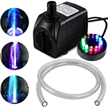 Beckett Corporation Pond and Fountain 450 GPH Pump with LED light