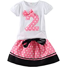4f71b5eb733 Mud Kingdom Little Girls Birthday Clothes Sets for Gifts