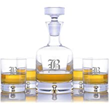 f0139a0403b Personalized Ravenscroft Lead-free Crystal Taylor Whiskey Liquor Decanter &  4 Taylor Rocks Glasses Engraved & Monogrammed - Retirement .