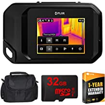 FLIR TG267 Diagnostic Thermal Imaging Camera with Bluetooth Bundle with Deco Gear Tactical Flashlight and Tactical Pen Set with Water//Shockproof Case and 3FT Braided Type-C Charge and Sync USB Cable