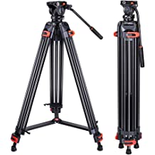 Microfiber Cloth eCostConnection Goliath 72 6ft Professional Tripod with Heavy Duty Premium Aluminum Legs and Quick Release Plate for All DSLR SLR Cameras