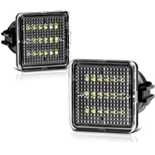 Powered by 18SMD Xenon White LED Lights GemPro 2Pcs LED License Plate Light Assembly Replacement For Toyota Prius ZVW30 NHW20 Matrix Lexus Scion