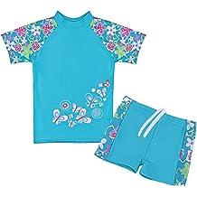 d1693a8ca3 TFJH E Girls Swimsuit Two Piece Swimwear 3-12 Years UPF 50+ UV