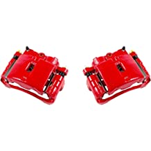 Quiet Low Dust Ceramic Brake Pads CCK12512 2 FRONT Performance Loaded Powder Coated Red Caliper Assembly