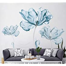 317e3caf61 DERUN TRADING Wall Stickers & Murals Home Décor Home Décor Accents for Living  Room Flower Wall Decals Home Improvement Paint Wall .
