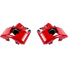 Performance Grade Red Powder Coated Semi-Loaded Caliper Assembly Pair Set 2 CCK12421 REAR