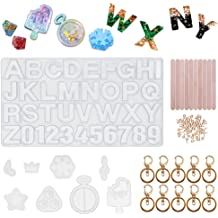 letters Silicone Mould DIY Resin Decorative Craft Jewelry Making resin molds Kw