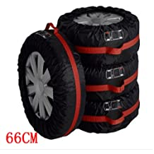 1PCS of Pack Ken-Tool Car Black Red 13-16,17-20 Spare Tire Tyre Wheel Cover Bag with Carrying Handles Tote Car Wheel Protector Storage 66cm