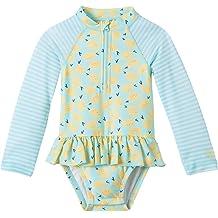 Baby Girl Sun /& Swim Play Suit-Peony Pink Geo UV SKINZ UPF50
