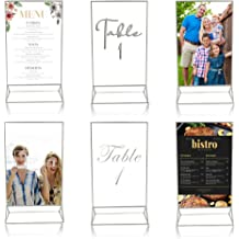 Large 5 x 7 Insert Space Two-View Talk to Your patrons Throughout Their Meal. MenuCoverMan /• Pack of 10 /• Better Quality Restaurant Table Tents #0206 Black Double Sided
