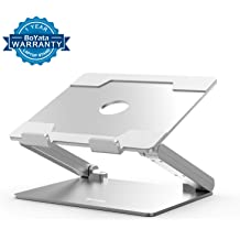 Hollow Portable Notebook Bracket with Heat-Vent,Non-slipping Silicone sticker,Multi-Angle Adjustable Liftable Tablet Holder,Ventilated Laptop Riser Foldable Stand for 12-17 inch laptops White