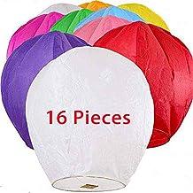 "6 ASSORTED COLORS 12 Premium SKY LANTERNS 40/"" Tall Hot Air Balloons"