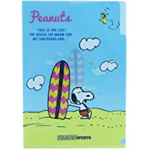 Snoopy Clear Plastic Folder 6 with Page Zipper Case Peanut 70th Anniversar