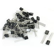 Aexit 100Pcs PCB Transistors Board BT169D 400V 0.8A Through Hole MOSFET Transistors TO-92 Transistors