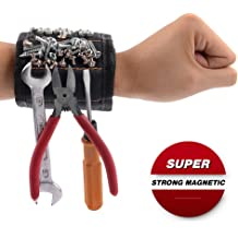 2 pack Drill Bits Women Father//Dad Men Tool Belts with 15 Strong Magnets for Holding Screws Magnetic Wristband Boyfriend Best Tool Organizers Tool Holsters for DIY Handyman Nails Husband