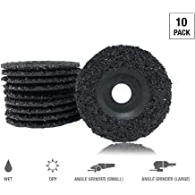 10 Pack 4-1//2 x 7//8 Mercer Industries 313080 Semi-Flexible Discs Type 27 Silicon Carbide Hole Grit 80