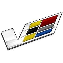 3pcs 3D Trunk Fender V SERIES Emblem Badge Decal fit for Cadillac CTS ATS XLR SLS Black
