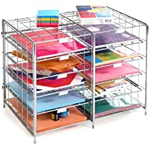 255N.35 PaperFlow Single Sided Mobile Literature Display 5 Shelves 33.67x15.17x66 Inches Silver