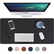 HITEM Genuine Leather Desk Pad 32 x 16 Executive Desk Laptop Blotter Writing Mat for Office and Home Espresso Brown