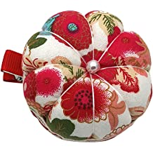 2X Watermelon Fruity Orange Lemon Colorful Red Green Needle Cushion Pincushion Wearable Pumpkin Pins Needles Pincushions Holder Safety Adjustable Elastic Band for Sewing Girl Women Gift Present