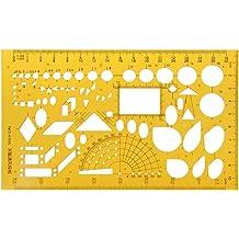 Oranmay K Resin Irregular Arc Drawing Template Ruler Engineer Stationery Measuring Tool