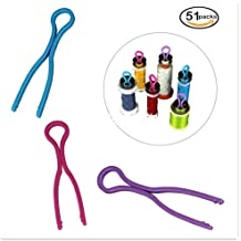 MonkeyJack 24 Pieces Colorful Silicone Bobbin Holder Clips Clamps Sewing Machine Accessories