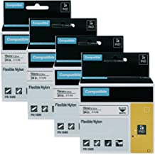 4Pk 18488 For DYMO Rhino 5200 4200 5000 Flexible Nylon Label Industrial 1//2 inch