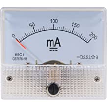 uxcell 85C1 Analog Current Panel Meter DC 5mA Ammeter for Circuit Testing Ampere Tester Gauge 1 PCS