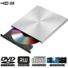 ALPEG Blu-Ray Drive Slim USB 3.0 Bluray Burner BD-RE CD//DVD RW Writer Play 3D 4K Blu-Ray Disc for Win 8//10 Laptop Netbook PC,1
