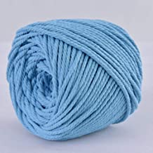 Natural Cotton Cord Rope DIY Macrame Cord Colored Cotton Rope Wall Hanging Plant Hanger Craft Making Knitting Rope Home Decoration 13 Colors 3mm200m//4mm110m 3mm, Lake Blue