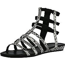 NEW Womens Isaac Mizrahi Maddie Crossband Wedge Sandals Black Sz 8.5M ASO QVC