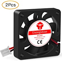 Aexit DC 24V Electrical equipment 50 x 50 x10mm Computer Cooling 7 Vanes Brushless Cooling Fans