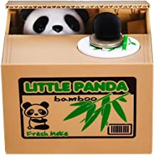 EC Outlets 2 Pack Cute Stealing Coin Panda and Puppy Money Box Panda Bank Piggy Bank