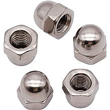 Acorn Hex Cap Nuts Locknuts 100 PCS M4-0.7mm Bright Finish 304 Stainless Steel