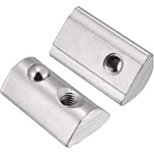 MTMTOOL Roll-in Spring M6 T Nut 3030 Series Roll Ball Elastic Nuts for T-Slot Aluminum Extrusion Profile Pack of 20
