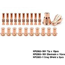 WeldingStop KP2065-1 Drag Shield Cap for Lincoln Pro-Cut 25 55 80 PCT-20 80 Plasma Cutting Torch Replacement Parts 2pcs