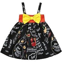 Veepola Baby Girls Sleeveless Two-Color Halloween Costume Pumpkin Tutu Dress
