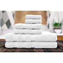 Queenzliving Complete Bathroom Set 6 Pc Towel Set With Matching Bath Rugs 8 Pc Towel White Buy Products Online With Ubuy Kuwait In Affordable Prices B086mjybsq