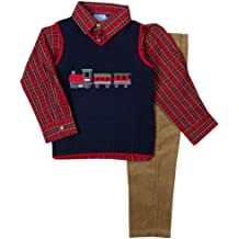 Good Lad Toddler and 4//7 Boys Red Buffalo Plaid Reversible Vest
