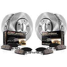Power Stop KC3047 Z23 Evolution Front Kit-Rotors Carbon-Fiber Ceramic Brake Pads Calipers