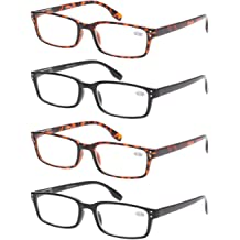 b72d9d450349 READING GLASSES 4 Pack Spring Hinge Comfort Readers Plastic Includes Sun  Readers