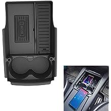QiYeHua 2PCS Car Seat Storage Box/&Console Side Pocket Coin Phone Organizer Cup Holder