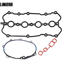 LIMICAR Engine Valve Cover Gasket Set VS50687R Compatible with 2007 2008 2009 2010 Ford Expedition Lincoln Navigator Mercury Mountaineer 4.6L 5.4L SOHC VIN 5 8 H