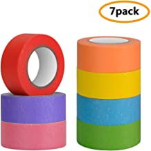 6 Pieces 1 Inch x 22 Yard 66ft Rolls Colored Painters Tape for Arts /& Crafts Rainbow Washi Tape Colorful Paper Tape for Kids Office DIY One Sight Colored Masking Tape Home Decoration