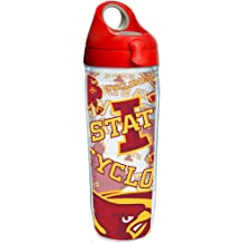 Silver Tervis 1297971 Ncaa Iowa State Cyclones Tradition Stainless Steel Tumbler With Lid 20 oz