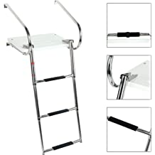 4 Mounting Holes 7 Inch DasMarine Marine Boat Telescoping Ladder Strap,Marine Grade Secure Retaining Rubber Latch Band with 3//4 Adjustable Mounting Holes for 2-Step 3-Step or 4-Step Ladder