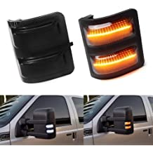 MOFORKIT Smoked LED Side Mirror Reflector Turn Signal Light Compatible with 2009 to 2014 Ford F150